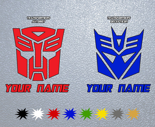 Transformers Personalized Sticker