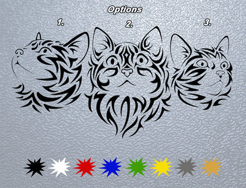 Tribal Cat Sticker (x1)