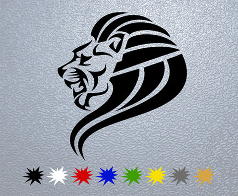 Tribal Lion Head Sticker (x1)