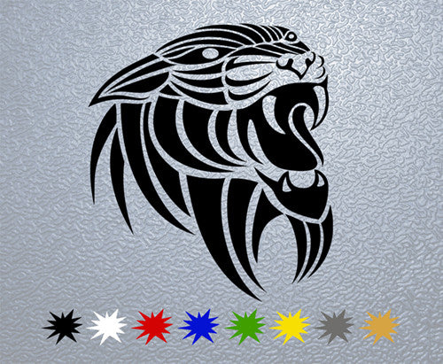 Tribal Panther Head  Sticker