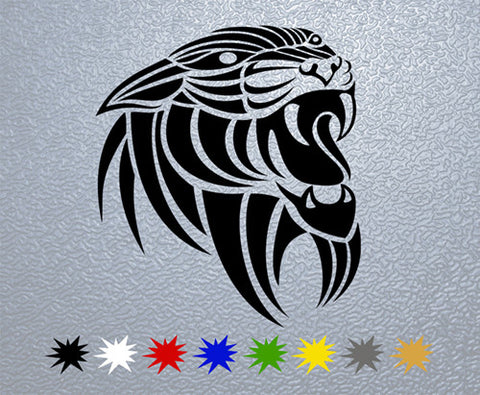 Tribal Panther Head  Sticker (x1)