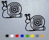 Turbo Boosted Snail Sticker