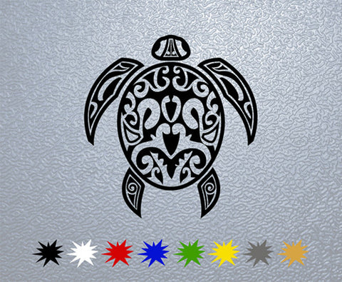 Tribal Turtle Sticker (x1)