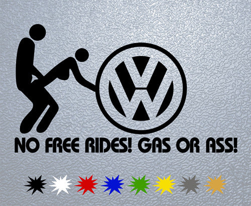 Volkswagen Gas Or Ass Sticker