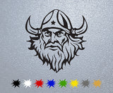 Viking Man Head Sticker