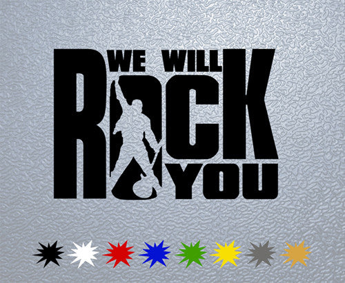 Queen We Well Rock You Logo Sticker