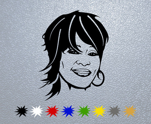 Whitney Houston Face Sticker