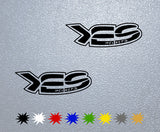 YES Helmets Logo Sticker