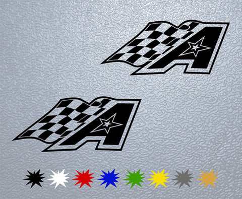 American Race Sticker (x2)