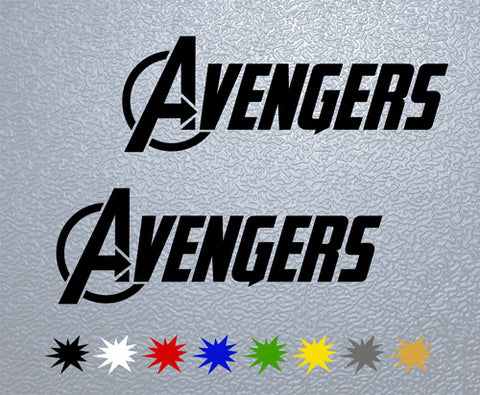 Avengers Marvel Logo Sticker (x2)