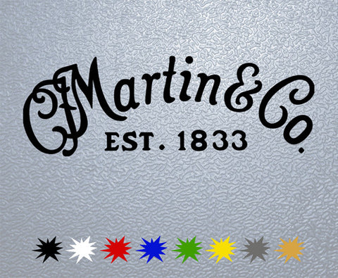 C.F. Martin Guitars Logo Sticker (x1)
