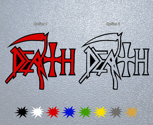 Death Logo Sticker