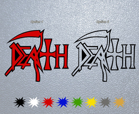 Death Logo Sticker (x1)