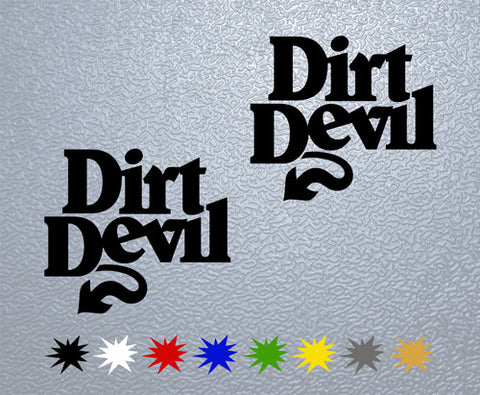 Dirt Devil Sticker (x2)