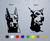Doberman Dog Head Sticker