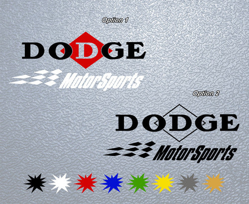 Dodge MotorSports Logo Sticker