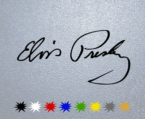 Elvis Presley Signature Sticker (x1)