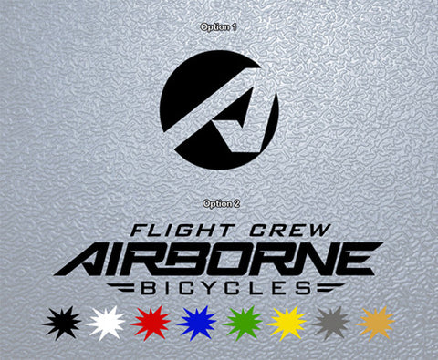 Airborne Flight Crew Logo Sticker (x1)
