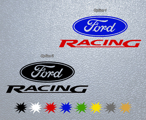 Ford Racing Logo Sticker