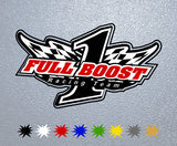 Full Boost Racing Logo Sticker