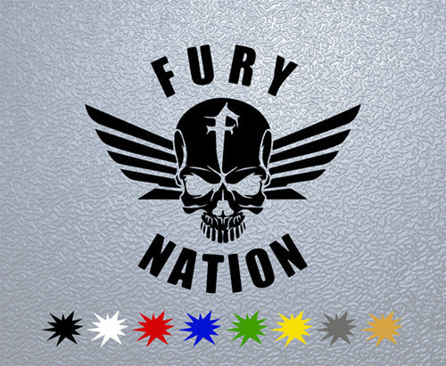 Fury Nation Skull Logo Sticker