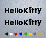 Hello Kitty Logo Sticker
