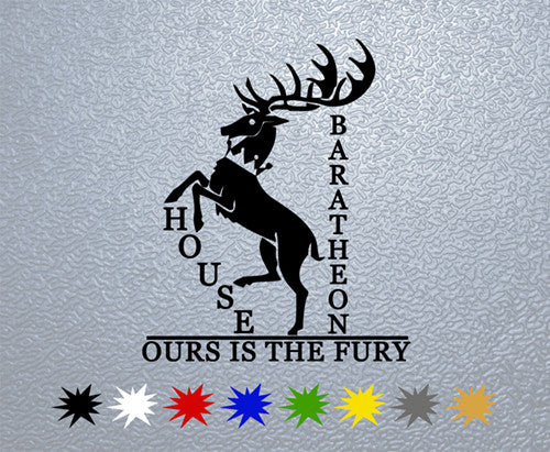 Game of Thrones House Baratheon Sigil Sticker
