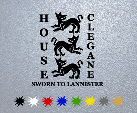 Game of Thrones House Clegane Sigil Sticker (x1)