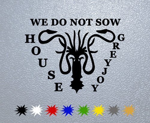 Game of Thrones Greyjoy House Sigil Sticker