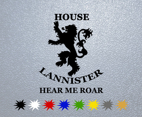 Game of Thrones House Lannister Sigil Sticker (x1)