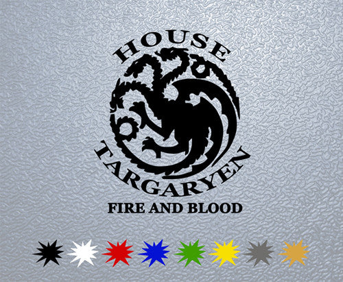 Game of Thrones House Targaryen Sigil Sticker