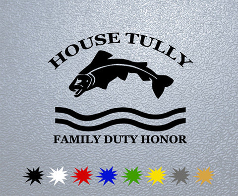 Game of Thrones House Tully Sigil Sticker (x1)
