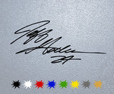 Jeff Gordon Signature Sticker