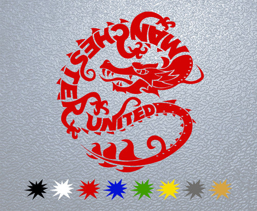 Manchester United Dragon Sticker