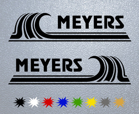 Meyers Boat Sticker (x2)