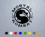 Mortal Kombat Logo Sticker