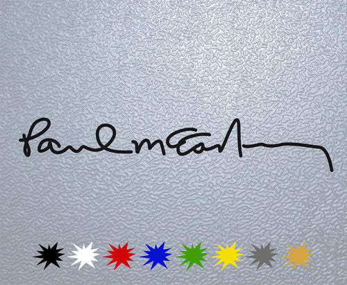 Paul McCartney Signature Sticker