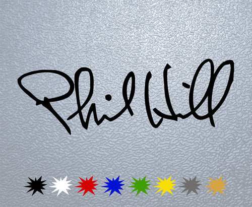 Phil Hill Signature Sticker