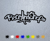 Race And Shop Logo Sticker