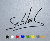 Sebastien Loeb Signature Sticker