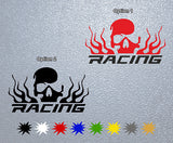 Skull Racing Logo Sticker