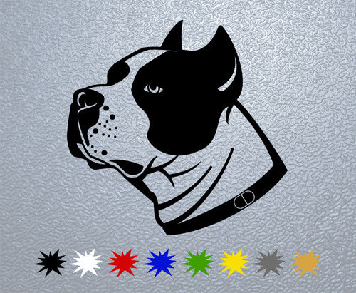 Stafford Dog Head Sticker
