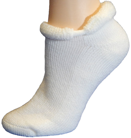 Cushees Rollback Ped Socks - Medium Size