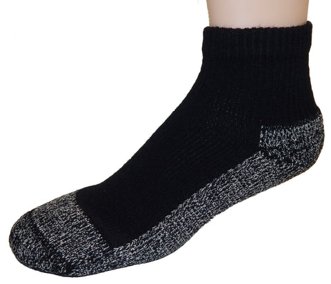 Cushees Ankle Socks, Triple Thick w/ grey bottom