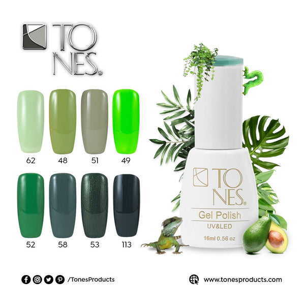 Gel Polish Kit Green Tones / 16 ml / 0.56 fl oz