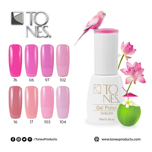 Gel Polish Kit Pink Tones / 16 ml / 0.56 fl oz