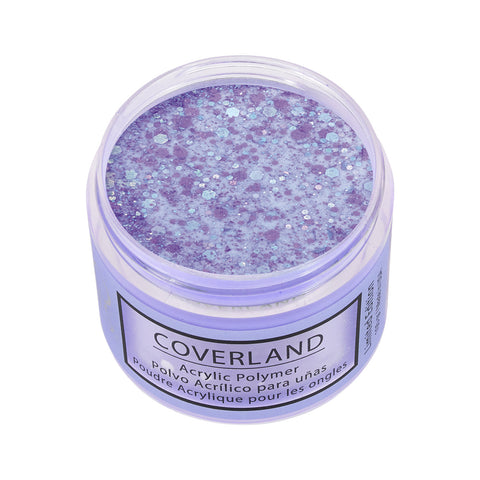 "Coverland Acrylic Powder 1.5 oz ""Amethyst Stars"" Limited Edition 