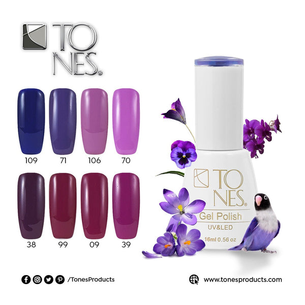 Gel Polish Kit Purple Tones / 16 ml / 0.56 fl oz