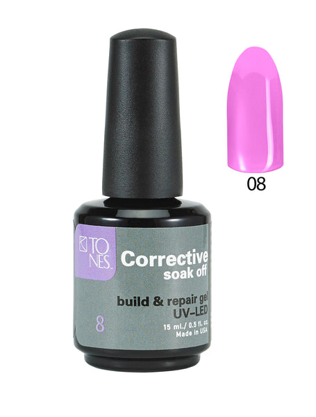Corrective Soak off Gel No. 08  15 ml  0.5 fl oz / Gel Correctivo de Color  No. 08  15 ml  0.5 fl oz