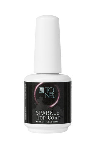 Sparkle Gel Polish Top Coat (Purple) - 16 ml / 0.56 fl oz |
